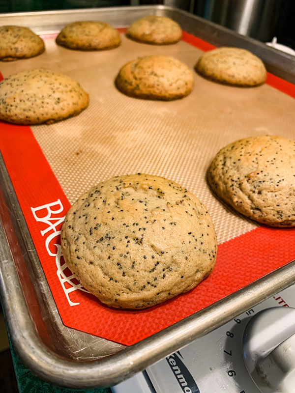 Cookies on a cooking pan