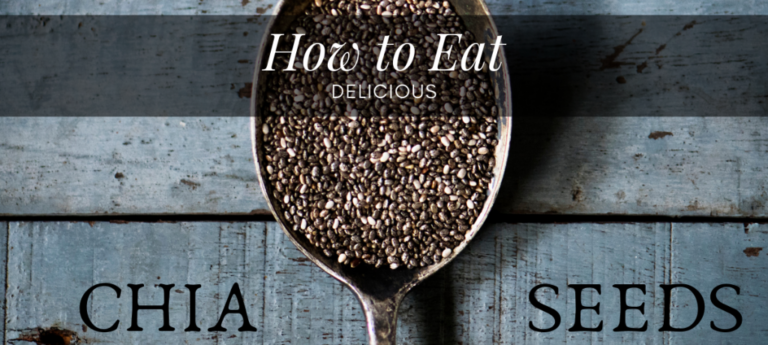 banner showing a spoon full of chia seeds