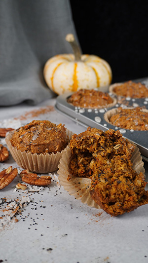 Muffins with a pumpkin