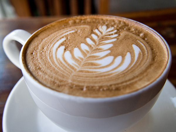 A vanilla latte