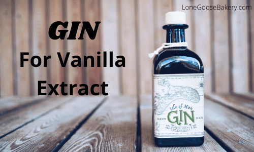 using gin vanilla extract