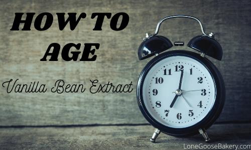 how to age vanilla extract