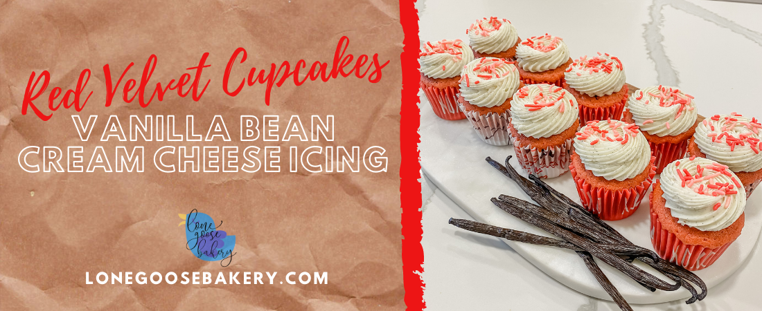banner featuring red velvet cupcakes
