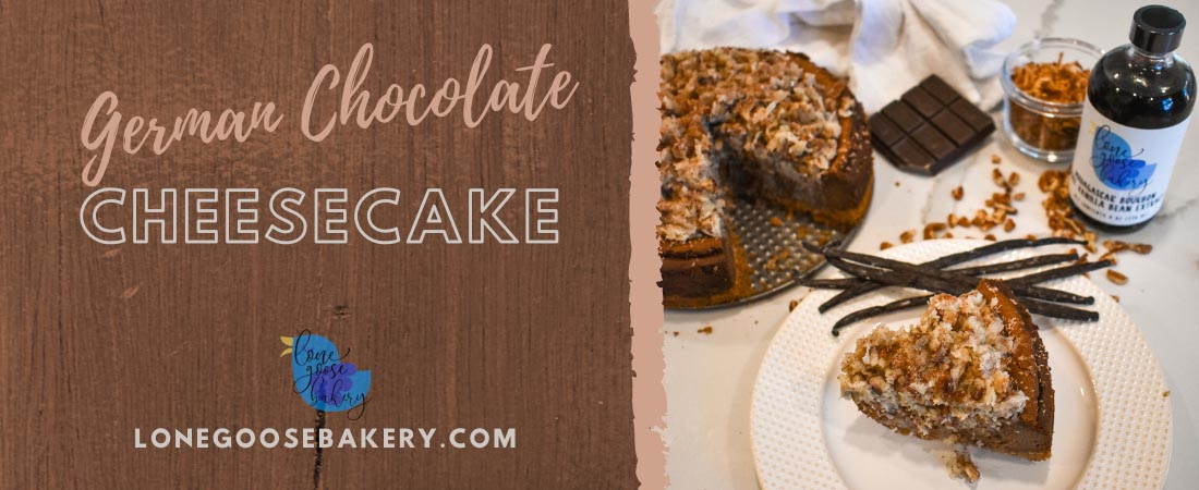 Banner with German Chocolate Cheesecake