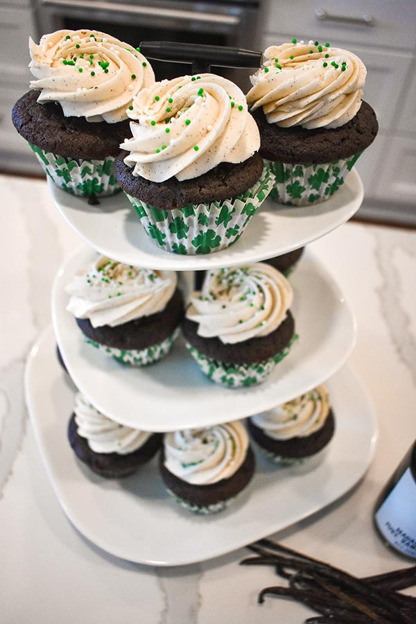Lone Goose Bakery Irish Delight Cupcakes Stack